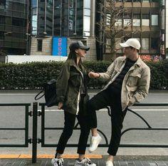 Swag Couples, Cute Couples Goals, Couple Goals, Kpop Couples, Mode Ulzzang, Korean Ulzzang, Cute Couple Outfits, Korean Best Friends, Couple Aesthetic