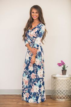 It's My Destiny Floral Maxi Dress - The Pink Lily