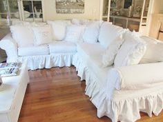 I have been looking for a long time for someone to make a slipcover for my sectional.  Most of them I found in my area wanted to have th...