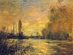 """""""The Small Arm of the Seine at Argenteuil"""" (1876), by French artist - Claude Monet (1840-1926), Oil on canvas."""
