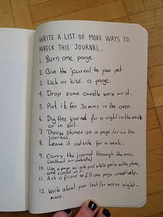 wreck this journal ideas - Google Search