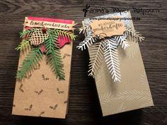 jpp - weihnachtliche Tüte / Verpackung / Tannenzweige / weiß / silber /Weihnachten Geschenktüte / rot / grün / Stampin' Up! Berlin /  Tannenzauber / Tannen und Zapfen / Etikett Kollektion / Dekoratives Etikett  www.janinaspaperpotpourri.de