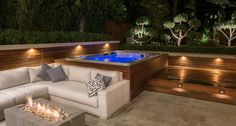 pool and whirlpool spa 8 -garten Outdoor pool and whirlpool spa 8 - Awesome glass space Hot Tub Backyard, Hot Tub Garden, Backyard Pools, Pool Decks, Hot Tub Pergola, Pergola Roof, Whirlpool Spa, Outdoor Pool, Outdoor Decor