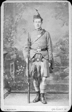 The 7th Middlesex (London Scottish) Rifle Volunteers - Private c1880  CDV