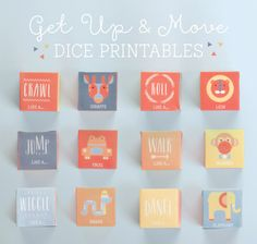 Get Up and Move Dice Printables ~ Tinyme