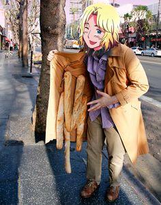 """hey kid wanna buy some baugettes oui oui eiffel tower"""