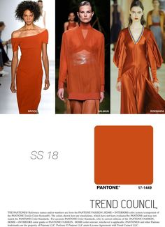 S/S #2018 fashion colors trends