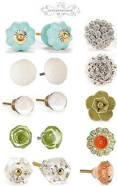 anthropologie knobs - my favorite thing about my dresser. #Anthropologie #PinToWin