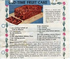 """I don't know the exact date of this recipe, but some other recipes that were with it were from the 50's so it's a good guess at the vintage. The blurb at the top says """"Here's a moist and tasty beau..."""