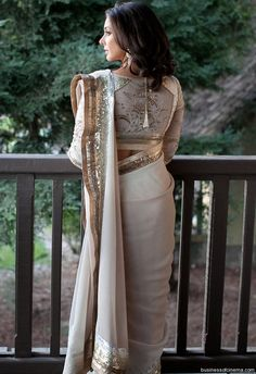 Lisa Ray in a sari - love the blouse