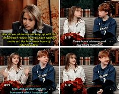 Harry Potter cast - Emma Watson and Rupert Grint - Today Show (2001)