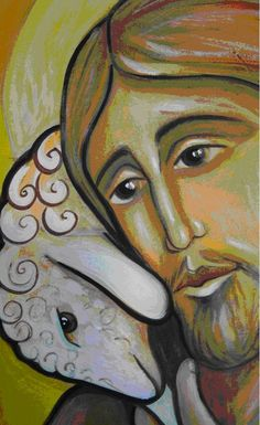 The Lord is My Shepherd -Psalm 23 Lord Is My Shepherd, The Good Shepherd, Religious Icons, Religious Art, Image Jesus, Good Shepard, Images Of Christ, Jesus Painting, Jesus Art