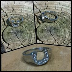 Stainless Steel Horseshoe Ring