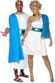 Couples Roman Toga Fancy Dress Costumes