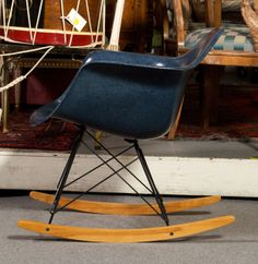 1960's Herman Miller RAR Indigo Rocker designed by Charles Eames | From a unique collection of antique and modern rocking chairs at http://www.1stdibs.com/furniture/seating/rocking-chairs/
