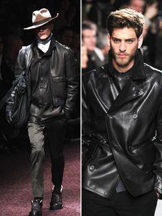 Black Leather: Hermes, Lanvin