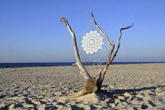In Oak Beach, Polish outdoor artist NeSpoon introduced a little bit of street art to the beach bordering the Baltic Sea. The artist, who visits Oak Beach Land Art, Art Beauté, Doily Art, Yarn Bombing, Baltic Sea, Environmental Art, Recycled Art, Installation Art, Land Scape