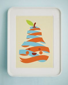 happy pear! nice colours and clean lines