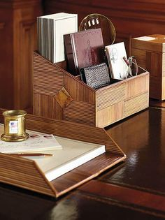 Add tropical flair to your desk with the Sugarcane Bay Desk Accessories that are handcrafted by skilled artisans sure to draw attention.