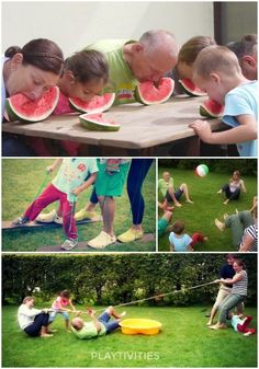 These family reunion games will make your family event super fun and succsessful picnic food ideas family reunions How To Have An Awesome Family Reunion - PLAYTIVITIES Outdoor Party Games, Kids Party Games, Backyard Games, Fun Games, Party Fun, Outdoor Games For Adults, Messy Games, Outside Games For Kids, Outdoor Water Games