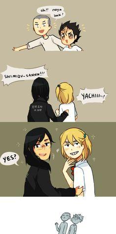 Haikyuu!   anime  Daichi   Sugawara   Tanaka   Nishinoya   funny   wig xdd   lol
