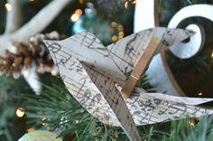 Martha Stewart pattern for paper birds