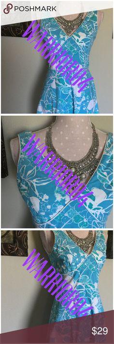 Blue New York & Co. Floral Dress Size 4 Blue New York & Co. Floral Dress Size 4 gently used New York & Company Dresses