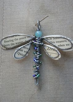 wire wrapped dragonfly