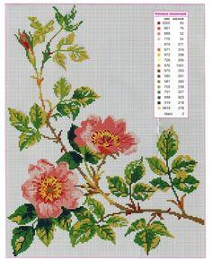 Розы - запись пользователя galina5 (Галина) в сообществе Вышивка в категории Схемы вышивки крестом, вышивка крестиком
