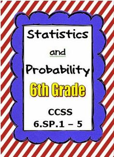 This resource covers the 6th grade math domain, Statistics and Probability. Lessons with guided notes and independent practice as well as group activities are included! http://www.thebestofteacherentrepreneurs.net/2014/11/math-lesson-common-core-math-6th-grade_13.html