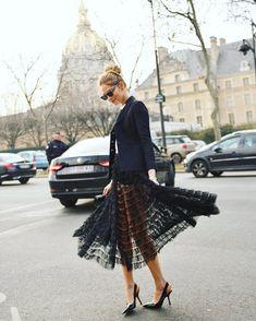 Chiara Ferragni during Paris fashion couture week #FashionWeek #Dior