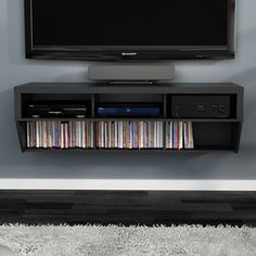 Wall-Mounted Entertainment Center Kohl's Wall-Mounted Entertainment Center Wall Mount Entertainment Center, Diy Entertainment Center, Home Decor Bedroom, Diy Home Decor, Bedroom Ideas, Bedroom Inspiration, Room Decor, Layout, Stores