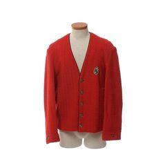Vintage 60s Red Rockabilly Crest Jacket 1960s by CkshopperVintage