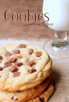 Fluffy American cookies (quick recipe) – Famous Last Words Chocolate Chip Cookies, Chocolate Chip Recipes, Cookie Recipes, Dessert Recipes, Salty Cake, Food Cakes, Savoury Cake, Cookies Et Biscuits, Cake Cookies