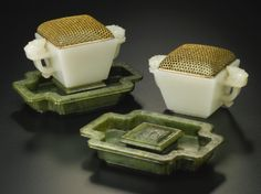 A PAIR OF SMALL SQUARE WHITE JADE CUPS QING DYNASTY, 18TH CENTURY - Sotheby's