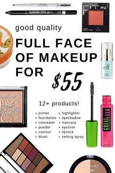 Makeup Like A Pro: The Complete Tutorial To Makeup Skills And Techniques - Learn 7 Makeup Tips And Tricks To Make Your Eyes Look Amazing! (Makeup, Skin Care, Beauty Tips) Makeup For Less, Fake Makeup, Cheap Makeup, Full Face Makeup, Makeup Kit, Skin Makeup, Makeup Ideas, Natural Makeup, Organic Makeup