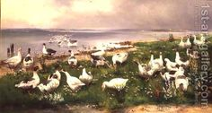 Geese Alfred Schonian | Oil Painting Reproduction | 1st-Art ...