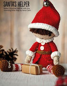 christmas elf toy amigurumi free pattern