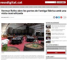 Resumen de prensa - Restaurant Vermuts Rofes Casa Gaudi, It Cast, Summary, Printing Press, Wine Cellars, Vacations, Restaurants, Homemade, Puertas