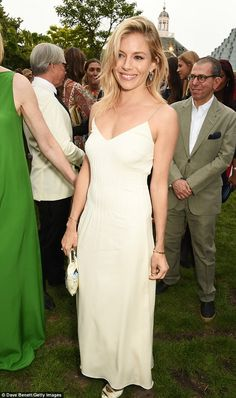 VIP event: Sienna was joined by mixed crowd of celebs at the star-studded garden party...