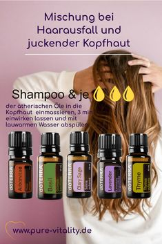Olie, Essential Oils, Pure Products, Plants, Itchy Scalp, Losing Hair, Doterra Recipes, Apothecary, Hair Care