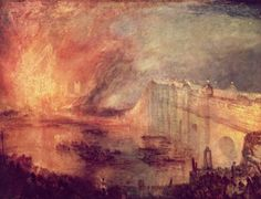 """""""The Burning of the Houses of Lords and Commons"""" J.M.W. Turner"""