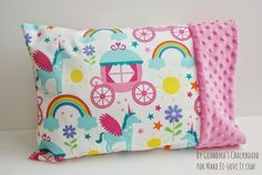 Travel-Sized Pillowcase (with Minky edge) Toddler Pillowcase, Pillowcase Pattern, Pillowcase Dresses, Pillowcase Tutorial, Sewing Crafts, Sewing Projects, Sewing Ideas, Sewing Patterns, Scrap Fabric Projects