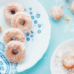 These doughnuts are insanely moist. I promise you, they melt in your mouth. My friends can never get enough of them. This cake doughnut recipe is very simple to make. I store the doughnuts glazed in the freezer for sugar-craving moments. Once the doughnuts are fried, they can be glazed with Coconut Glaze or any other glaze you like, or dusted with superfine sugar.