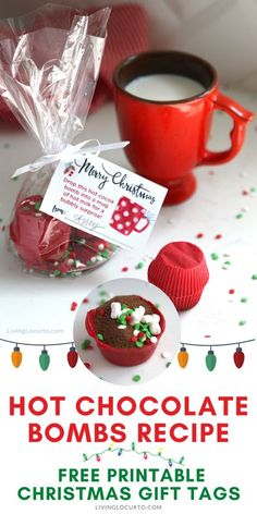 Hot Chocolate Bombs are easy to make with this no mold recipe! Candy with hot cocoa mix, sprinkles and marshmallows makes the perfect gift. Chocolate Navidad, Hot Chocolate Gifts, Christmas Hot Chocolate, Homemade Hot Chocolate, Hot Chocolate Bars, Hot Chocolate Recipes, Christmas Snacks, Christmas Cooking, Holiday Treats