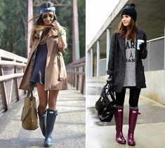 How to Wear Rain Boots  #rainboots #fashion