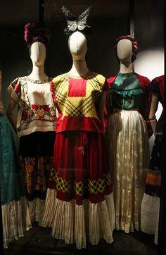Smoke and Mirrors: Frida Kahlo's dresses.Photo: Victor Chavez via Vogue Mexico