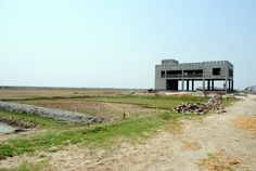 Cyclone Shelter (under construction), Bainpura Village, Bangladesh