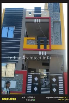 Bungalow house design Kailash Namdev : view of 1000 Sqft House Front Wall Design, House Balcony Design, House Outer Design, House Main Gates Design, Single Floor House Design, Modern Small House Design, House Outside Design, Bungalow House Design, Gate Design