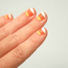 Get festive for Halloween with this Candy Corn Nail Art Tutorial!